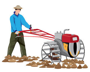 farmer shape vector design