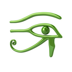 Green Eye of Ra symbol