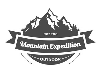 Mountain explorer vintage isolated label