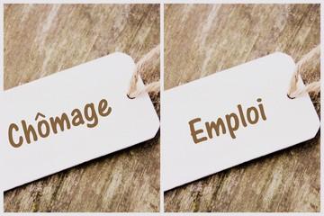 concept,chômage,emploi,composition sur fond bois