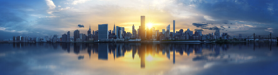 Photo sur Plexiglas Lieux connus d Amérique New York City skyline