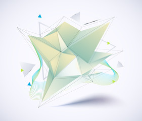 Low polygon. Geometry vector. White polygonal.