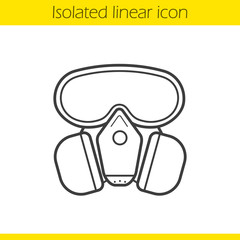 Gas mask linear icon