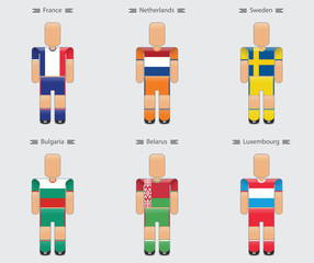 soccer (football) player flag europe uniform icon group a