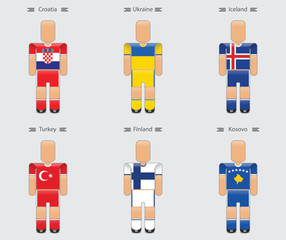 soccer (football) player flag europe uniform icon group i
