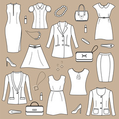 Women's clothing and accessories.