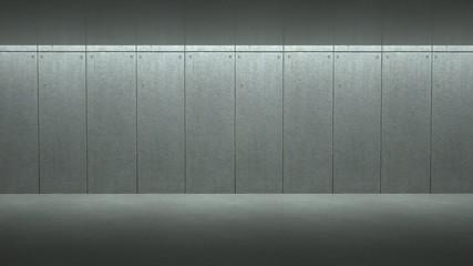 Empty concrete room, 3 d render