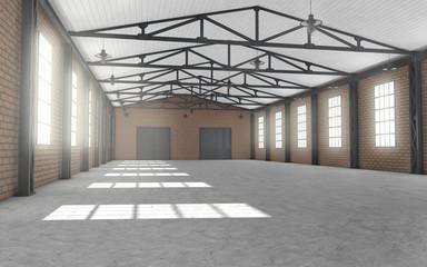 Clean empty warehouse interior