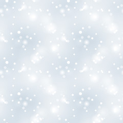 Glittery vintage silver seamless pattern. Christmas background.