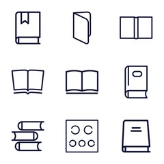 Set of 9 read outline icons