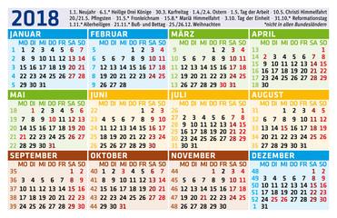 Taschenkalender 2018