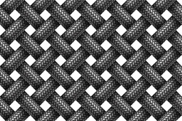 Vector seamless pattern of woven fabric braided cords.