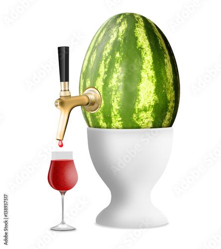 wassermelonen zapfanlage