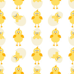 pattern with little chickens