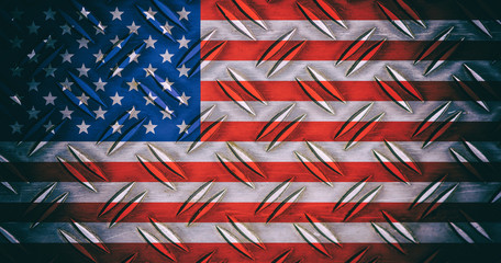USA national flag background in vintage style