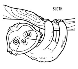 Sloth Face Coloring Page