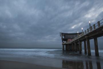 The Pier at Addington Beach on a Cloudy Morning
