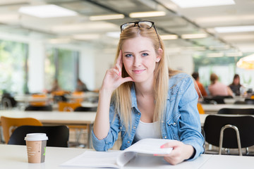 Studentin in Seminarraum