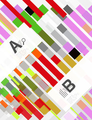 Abstract geometrical texture with infographic options