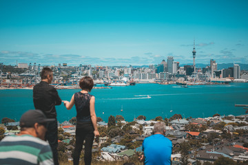 Auckland City view from Mount Victoria