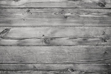 Texture wooden boards, black-and-white photo.