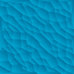 Blue polygon abstract triangulated background, vector illustration