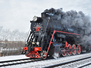 Historical steam engine train
