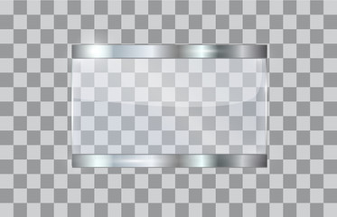 Transparent glass plate