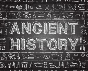 Ancient History Blackboard Background