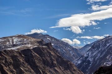 красивый вид на горное ущелье, пейзаж, природа Северного Кавказа