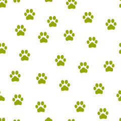 Animal footprint seamless pattern. Seamless pattern can be used for wallpaper, pattern fills, web page background, surface textures. paw