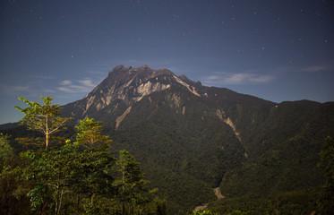 amazing view of Mount Kinabalu, Sabah, Malaysia at night