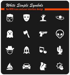cinema genres icon set