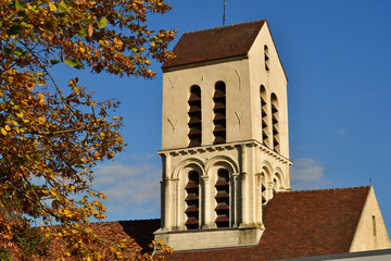 Verneuil sur Seine; France - october 16 2016 : saint Martin church