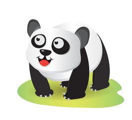 Aluminium Prints Cats smiling panda cartoon