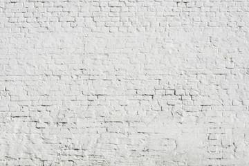 huge white brick wall