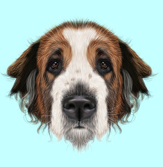Illustrated Portrait of Moscow Watchdog dog