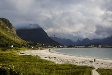 Ramberg beach, Flakstad district, Lofoten Islands, Norway.
