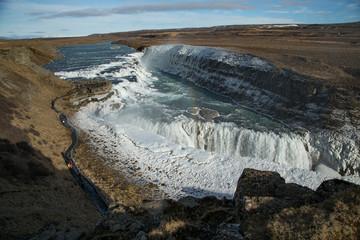 Cascade d'eau en Islande