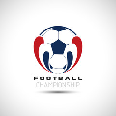 Football Tournament Icon. Soccer Logo Vector Illustration. Sport Poster Concept.