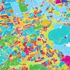 Edinburgh, Scotland, Colorful Vector Map