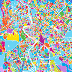 Rome, Italy, Colorful Vector Map