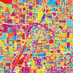 Las Vegas Colorful Vector Map