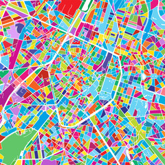 Brussels Colorful Vector Map