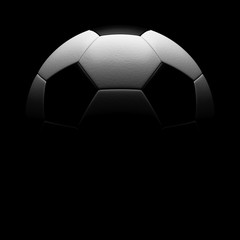 3D rendering Isolated Soccer Ball with black background