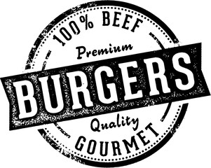 Vintage Fresh Burgers Sign