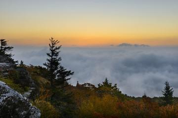 Wall Mural - Dawn From Foggy Mountain Top