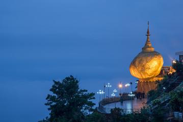 Kyaiktiyo Pagoda or Golden rock in Myanmar