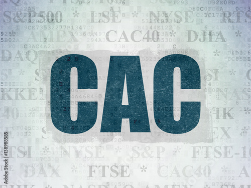 Stock Market Indexes Concept Painted Blue Word CAC 40 On Digital Data Paper Background Photo And Royalty Free Images Fotolia