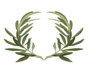 Olive wreath - the reward for the winners of the Olympic games in ancient Greece